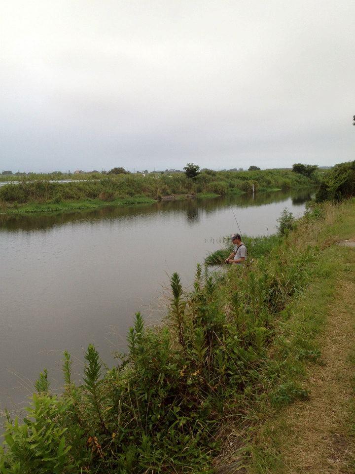霞ヶ浦西の洲から伸びる水路