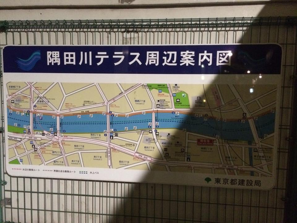 隅田川テラスの案内図