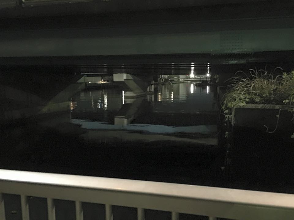 八枝橋下の明暗