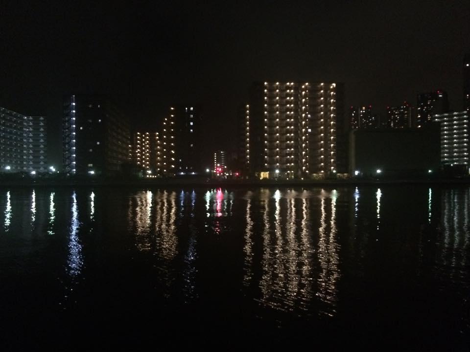 真夏の夜の潮見運動公園