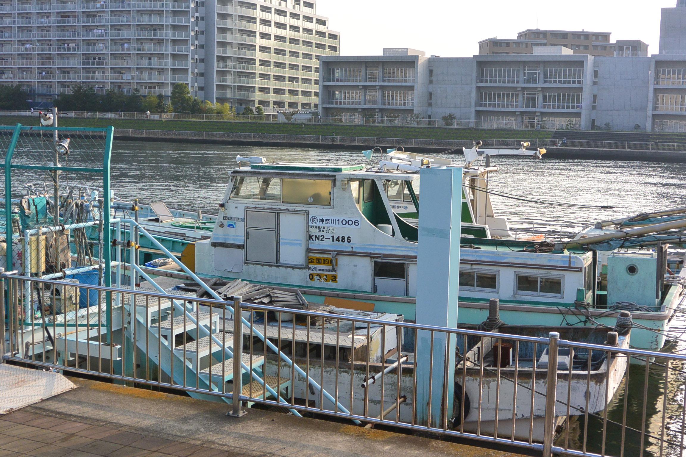 鶴見川の桟橋