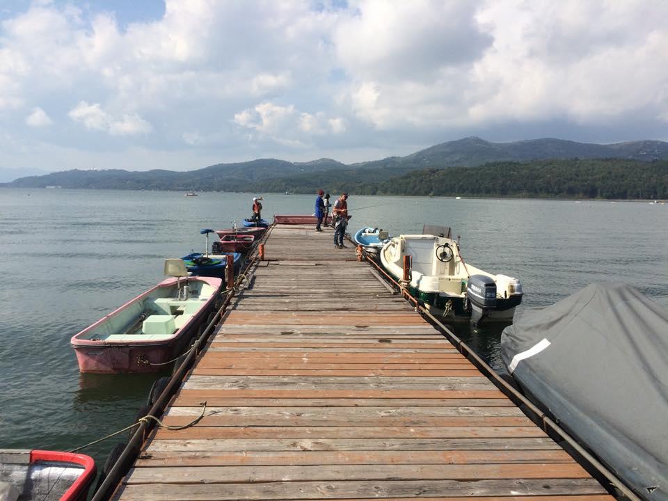 山中湖 静山荘のボート桟橋