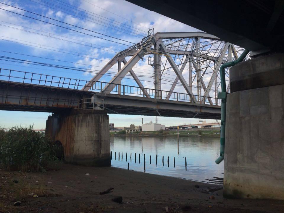 堀切橋の下