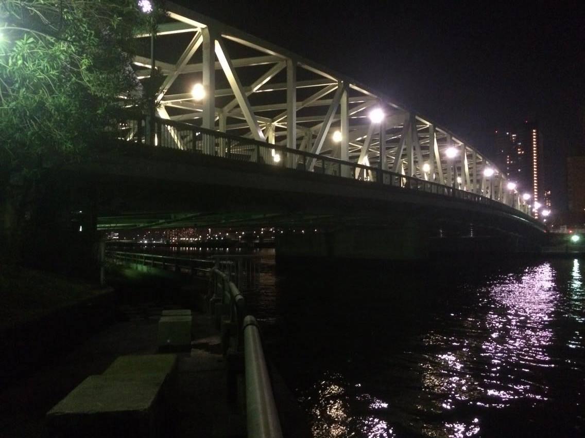 隅田川河口の相生橋