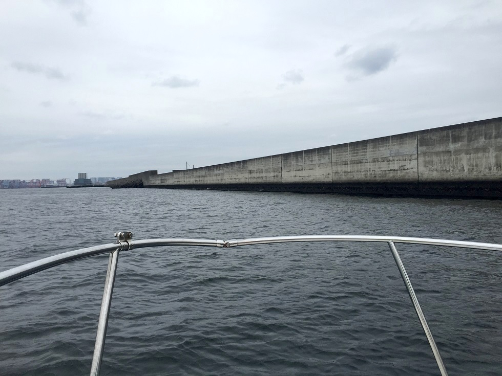 中央防波堤のブレイク