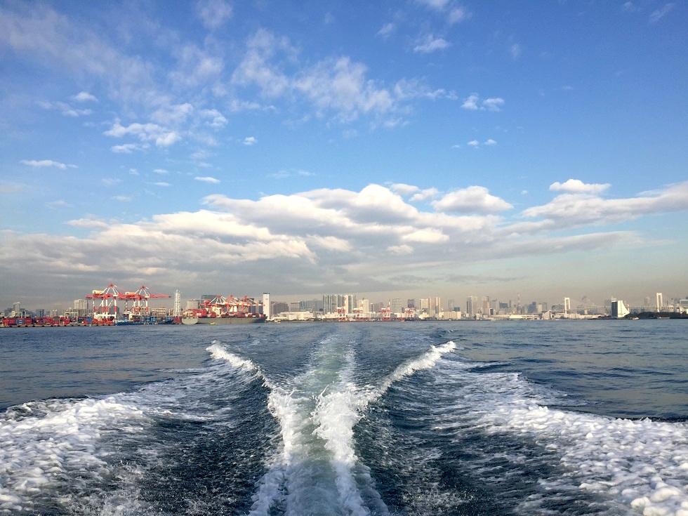 羽田沖へ移動