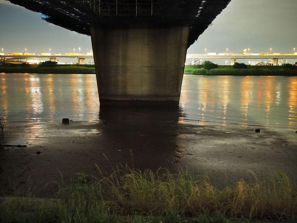 荒川橋梁下のポイント