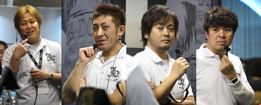 藤澤周郷さん、レッド中村さん、大野ゆうきさん、村岡正憲さん